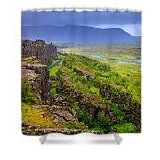 Thingvellir National Park Rift Valley Shower Curtain