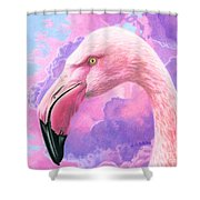 Think Pink Flamingo Shower Curtain