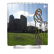Thinking About The Castle Shower Curtain