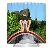 Thinking About You Shower Curtain