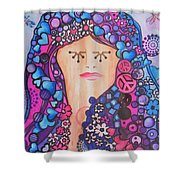 Thinking Of Peace Shower Curtain