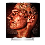 Thinking Man Shower Curtain