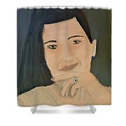 Thinking Of What To Do Next Shower Curtain by Pamela  Meredith