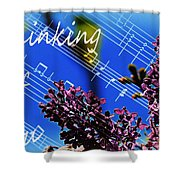 Thinking Of You  - Memories - Music Shower Curtain