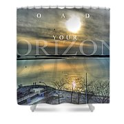 Thinking Outside The Box Shower Curtain