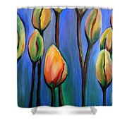 Thinking Spring Shower Curtain