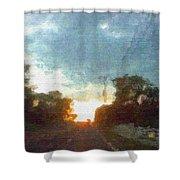 Third Sunset Shower Curtain
