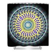 Thirteen Stage Alchemy Kaleidoscope Shower Curtain by Derek Gedney