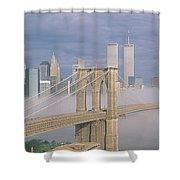 This Is The Brooklyn Bridge Shower Curtain