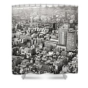 This Is Tokyo In Black And White Shower Curtain