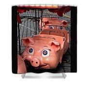 This Little Piggy Went To Market Shower Curtain