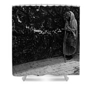This Old Woman Was In Her Youth During The 1910-1920 Mexican Revolution Guadalajara Jalisco Mexico  Shower Curtain