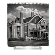 Thistle Hill Bw Shower Curtain