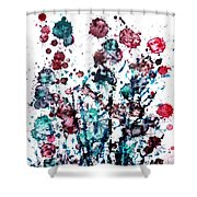 Thistle Shower Curtain by Zaira Dzhaubaeva