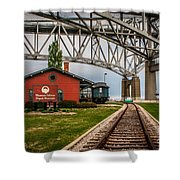 Thomas Edison Museum And Rr Track Shower Curtain