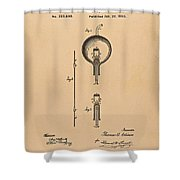 Thomas Edison Patent Application For The Light Bulb Shower Curtain
