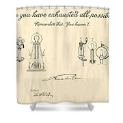 Thomas Edison Quote Shower Curtain