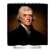 Thomas Jefferson By Rembrandt Peale Shower Curtain by Bill Cannon
