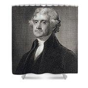 Thomas Jefferson Shower Curtain by Gilbert Stuart