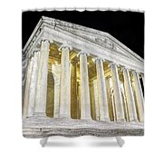 Thomas Jefferson Memorial At Night  Shower Curtain
