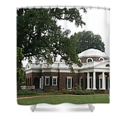 Thomas Jeffersons Monticello Shower Curtain