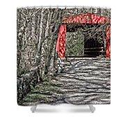 Thomas Mill Covered Bridge Shower Curtain