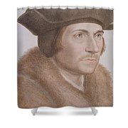 Thomas More Shower Curtain by Hans Holbein the Younger