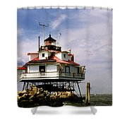 Thomas Point Shoal Lighthoues Shower Curtain