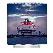 Thomas Pt.  Shoal Lighthouse Shower Curtain