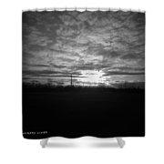 Thornton Sunset With A Holga Shower Curtain