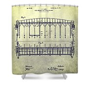 Thoroughbred Race Starting Gate Patent Shower Curtain