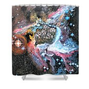 Thor's Helmet Nebula Shower Curtain