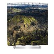 Thorsmork Valley In Iceland Shower Curtain