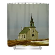 Those Old Hymns On A Snowy Day Shower Curtain