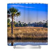 Those Quiet Sounds Shower Curtain by Marvin Spates