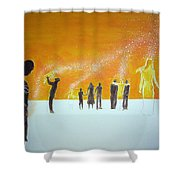 Those Who Left Early Shower Curtain by Lazaro Hurtado
