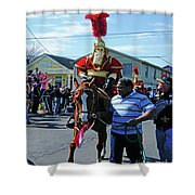 Thoth Parade Rider Shower Curtain
