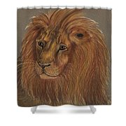 Thoughtful Lion 2 Shower Curtain