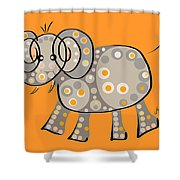 Thoughts And Colors Series Elephant Shower Curtain