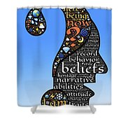 Thoughts And Words Shower Curtain
