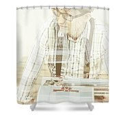 Thoughts Of A Creative Writer Shower Curtain