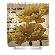 Thoughts Of Gratitude Shower Curtain
