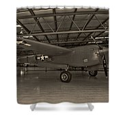 Thoughts Of Midnite P-38 3 Shower Curtain
