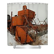 Thrashing The Snow Shower Curtain by Jeff Swan