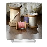 Thread And Mending Shower Curtain