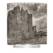 Threave Castle In Grey Shower Curtain