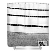 Three And A Half Bw Palm Springs Shower Curtain