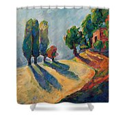 Three And One Trees Shower Curtain