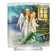 Three Angels In White Dresses Shower Curtain
