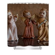 Three Angels Shower Curtain